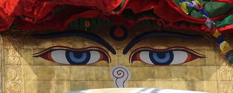 Bouddhnath stupa eye